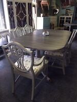 HUGE 50% off sale! Antique refinished dining set $750
