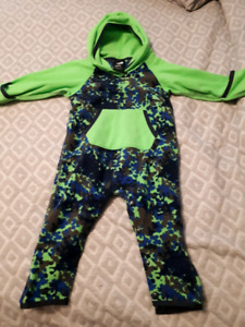The North Face fleece one piece 6-12 months