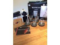 Nespresso inissia Krups coffee machine and accessories