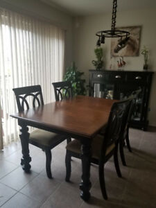 Brand New Ashley Dining Table and Hutch Set