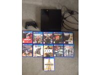 PS4 500gb with 11 games