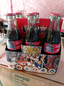 Collector Coca Cola Bottles - Final Maple Leaf Gardens Game