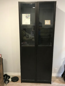 All wood black cabinet