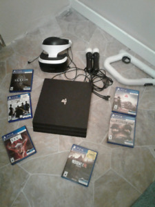 Ps4 pro 1tb with virtual reality