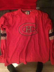 Men's Montreal Canadien's Vintage Style pullover and cardigan