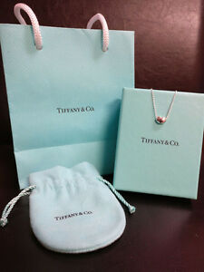 Tiffany Elsa Peretti Bean Pendant Necklace