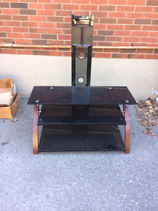 Black glass tv stand - moving sale
