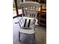 Shabby chic grandfather chair
