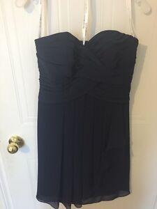 David's Bridal short bridesmaid dress, navy marine size 8 London Ontario image 1