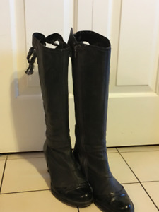 Neosens Rococo leather knee high boots from Spain, 9.5W