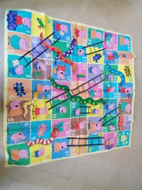 Large peppa pig wipe clean snakes & ladders game