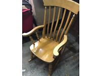 Gorgeous wooden rocking chair for sale