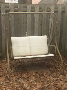 outdoor swinging loveseat - no cushions