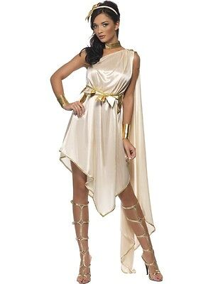Hera Greek Goddess Costume (Women's Fever Sexy Greek Goddess Fancy Dress Costume Hera Wife Of Zeus Hen Fun )
