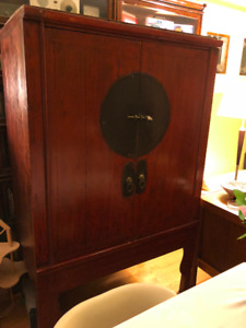 Antique Chinese 2-door cabinet for sale