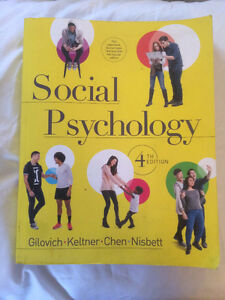 "PSYCO 241 ""Social Psychology"" Gilovich 4th Ed."