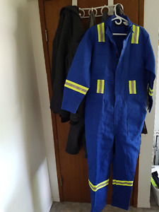 Flame Resistant Coveralls - New - Size Large 42-44