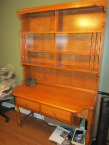 Beautiful Roxton Solid maple Desk. with Top Organizer. $200.