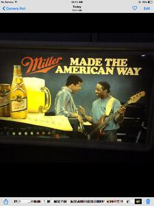 Miller light up beer sign