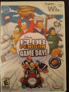 Brand new sealed Wii game Club Penguin Game Day