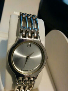 Woman Movado Swiss Quartz Silver-Tone Stainless Steel Watch