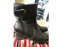 Ladies next leather brown boots size 7