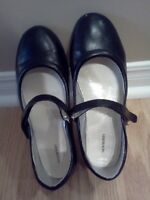 Girl's Black Mary Janes - Size 5