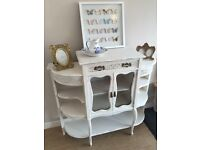 Vintage Shabby Chic Painted French style display Cabinet - CAN DELIVER