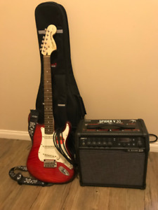 Stratocaster guitar and Amp