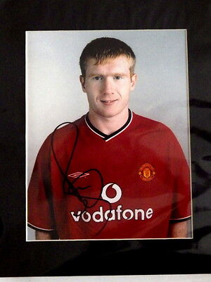 Paul Scholes - Manchester United - Hand Signed & Mounted 8x10 Photograph