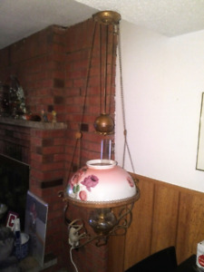 Antique Victorian Chandelier Oil Lamp