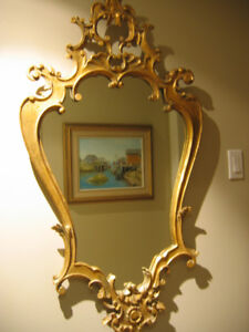 Balance of Estate Wood carved Mirror cir 1940