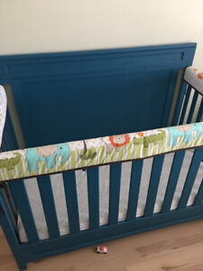 Crib, Delta Brand, 4-in-1 crib, Painted blue