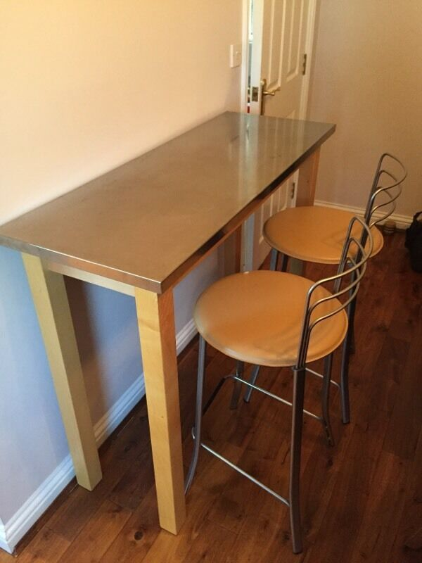 John Lewis Breakfast Bar And Two Stools In Ely