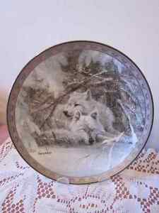 Bradford collectors plates WOLF/EAGLE