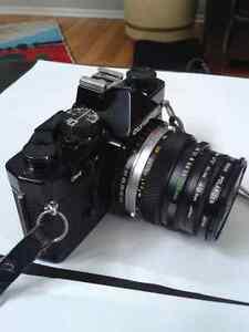 Vintage Olympus OM-2 SLR Camera Bundle