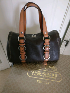 Authentic COACH Bag Brown Chelsea Turnlock Pebbled Leather Satch