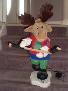 Animated hockey moose (decoration)
