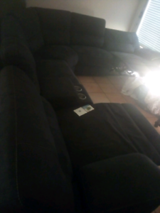 L shape couch electric recliner