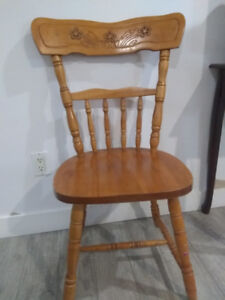 Vintage Single Wooden Carved Chair