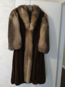 Beautiful MInk and Crystal  Fox Fur Coat