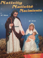 Nativity Set and Angel