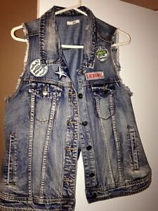 Veste en jeans sans manches