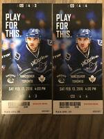 Canucks vs. Toronto Maple Leafs - Row 4! (lower bowl)