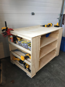 Custom Work Bench with tons of storage