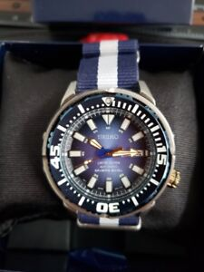 Seiko Limited Edition Superior Blue Diver (Baby Tuna) on NATO