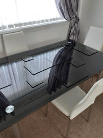 Black Glass Dining Set