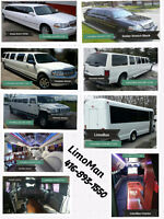 Stretch Limo, Party Bus ... BEST prices, Custom Packages