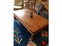 Refurbished large Sheesham coffee table