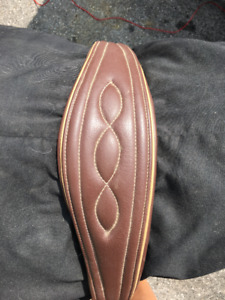 New Brown leather girth with elastic